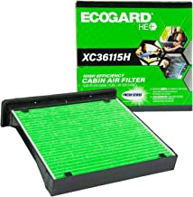EcoGard XC36115H High Efficiency Premium Cabin Air Filter + Baking Soda Fits Subaru Forester, Impreza, XV Crosstrek, Crosstrek, WRX, WRX STI