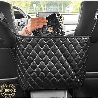 Opolar Car Back Seat Organizer Foldable Car Storage Box with Phone Holder Makeup Mirror Premium Car Storage Pocket Trash Can for Toys Bottles Umbrellas Road Trip Travel Accessories