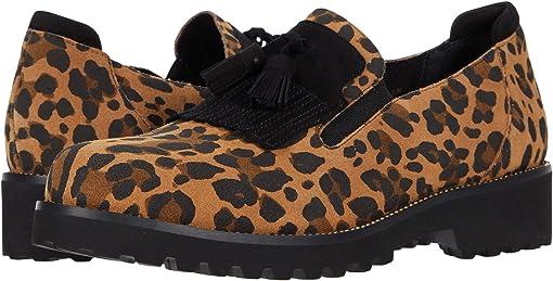 Camel Leopard Eureka/Black Suede