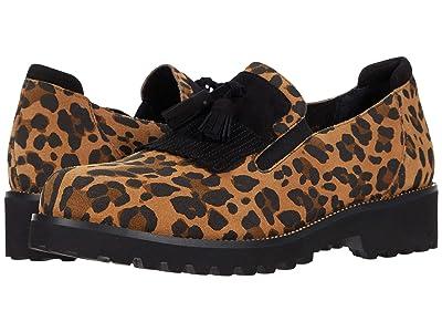 Vaneli Zoelie Waterproof (Camel Leopard Eureka/Black Suede) Women