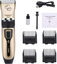 AUSELECT Dog Grooming Clipper Kit, Low Noise, Electric Quiet, Rechargeable, Cordless, Pet Hair Thick Coats Clippers Trimme...