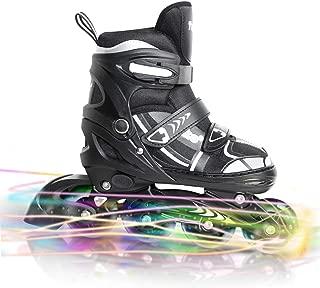 Tuko Kids Adjustable Inline Skates for Boys/Girls Roller Skates Illuminating Wheels Blades Patines para Niños