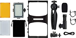 GPX All-in-One Vlogging Kit, for YouTube and TIK Tok, Includes LED Video Light, Tripod, Microphone, Fits Most Smartphones ...