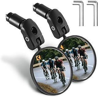 GeeMart Bike Mirror, 2PCS HD Safety Bicycle Cycling Rear...