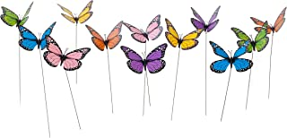 Butterfly Garden Ornaments & Patio Stakes Butterflies Plant Picks 12 Pcs Set