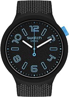 Swatch Quartz Plastic Strap, Black, 24 Casual Watch (Model: SO27B118)