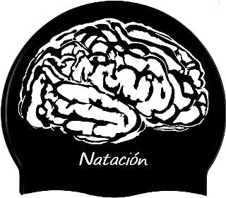 escualo Gorras para Natacion Mod. Cerebro Color Negro