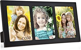 Philip Whitney 3 Opening Black Wooden 4x6 Collage Picture Frame