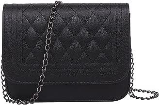 Women Messenger Bag Plaid Ladies Crossbody Bag Chain Trendy Candy Color Small Handbag