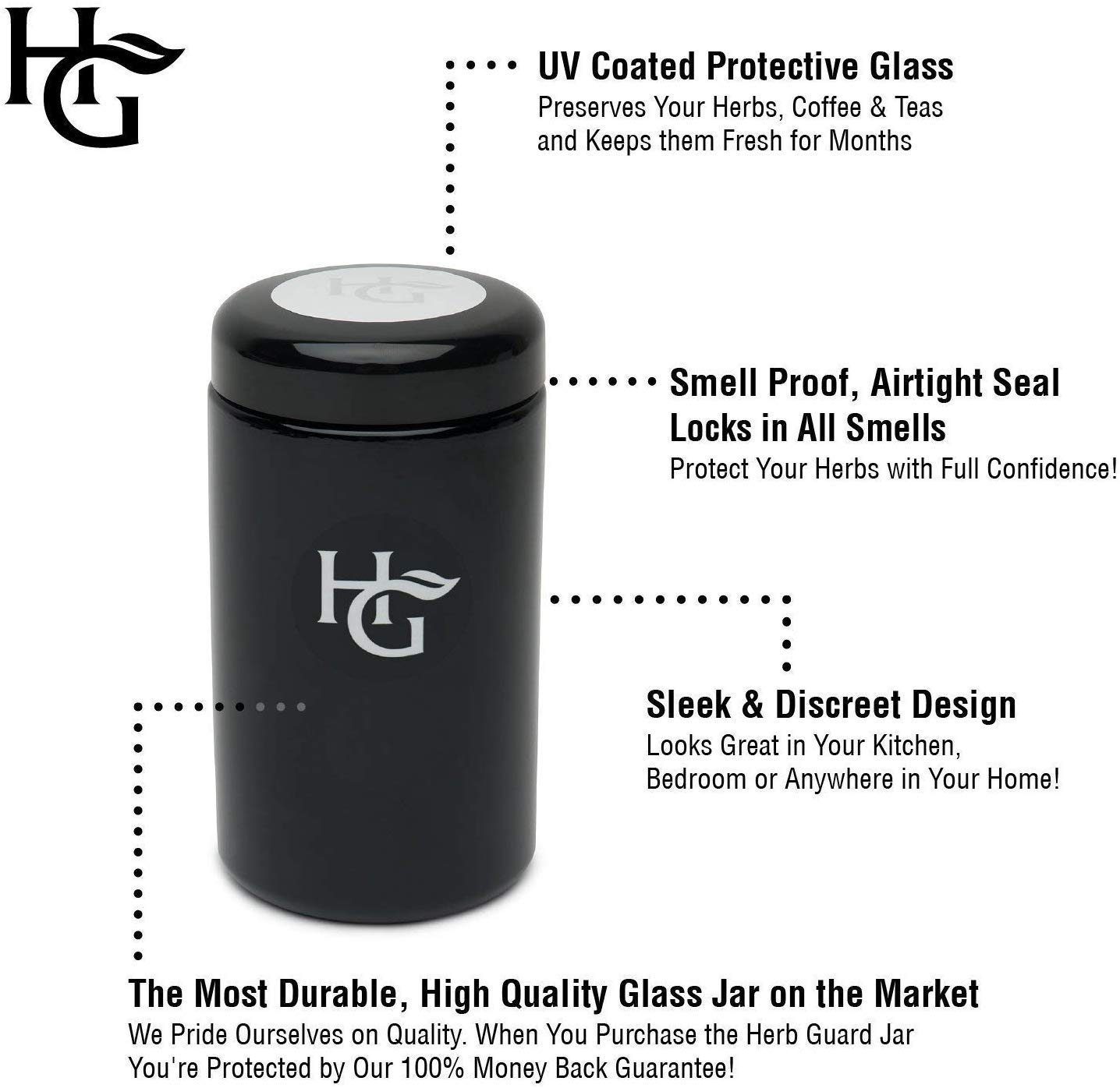 1 set Airtight Smell Proof Herb Container Stash Jar Easy Vacuum Carry Guard Bag
