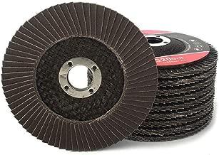 10Pack 4''x5/8'' Premium High Density Calcined Aluminum Oxide Flap Disc 320 Grit