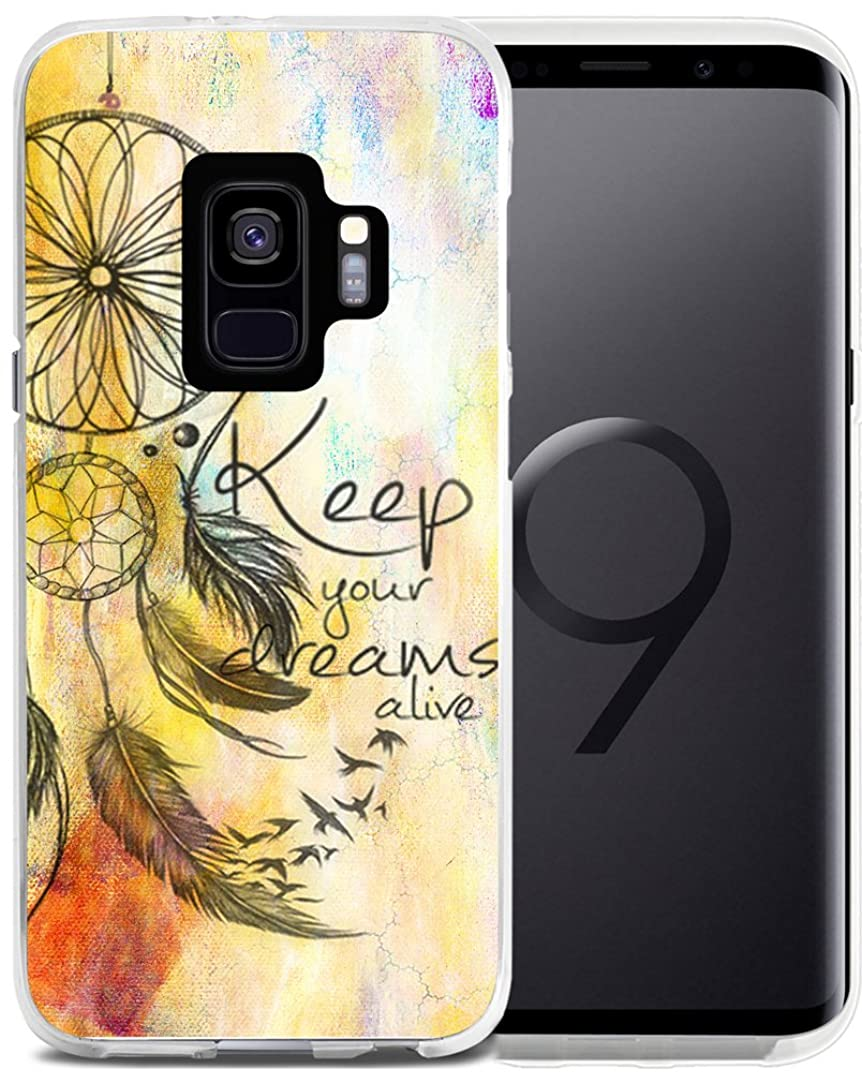 S9 Case Dream Catcher- CCLOT Case for Galaxy S 9 - Protector Cover Compatible with Samsung S9 - Keep Your Dreams Alive Words Dreamcatcher (Slim Flexible TPU Protective Silicone)