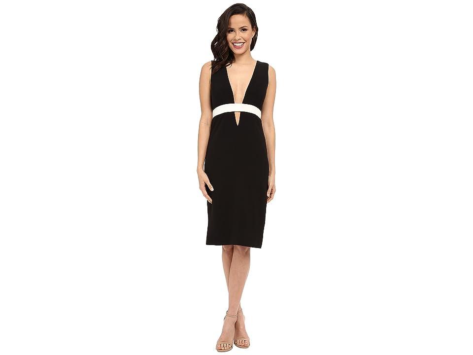 Nicole Miller Viola Color Black Cocktail Dress (Black/White) Women