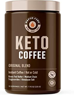 Sponsored Ad - Rapid Fire Ketogenic Fair Trade Instant Keto Coffee Mix, Supports Energy & Metabolism, Weight Loss, Ketogen...