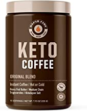 Rapid Fire Ketogenic Fair Trade Instant Keto Coffee Mix, Supports Energy & Metabolism, Weight Loss, Ketogenic Diet 7.93 oz...