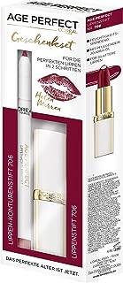 L'Oréal Paris Age Perfect Helen Mirrens Lipstick en Lipliner in nr. 706 perfect bordeaux, intensieve verzorging en glans, ...