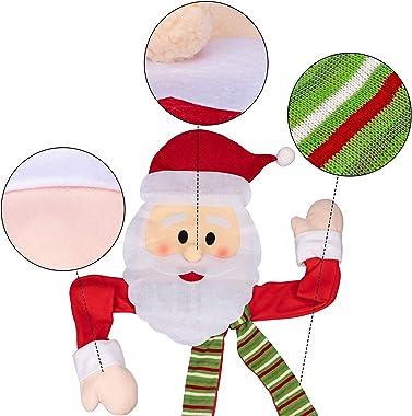 Moon Boat Christmas Tree Topper Santa Hugger - Xmas/Holiday/Winter Wonderland Party Decorations Ornaments Supplies