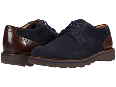 Nunn Bush Buchanan Plain Toe Oxford (Navy Multi) Men