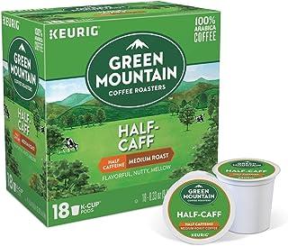 グリーンマウンテンコーヒー ハーフカフェ ディカフェ Kカップ キューリグ ミディアムロースト コーヒー 18個入 Green Mountain Coffee Keurig [並行輸入]