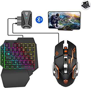 viden MIX Pro Bluetooth PUBG Controller Set,Android/iOS Gaming Keyboard Mouse Converter, RGB Mouse & Keyboard Combo Pack f...