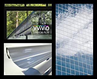 VViViD One Way Mirror Window Film Silver (17.75 Inches X 60 Inches)