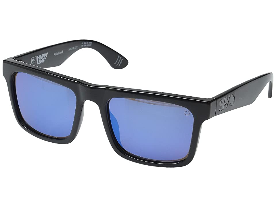 Spy Optic Atlas (Black/Happy Bronze Polar w/ Dark Blue Spectra) Athletic Performance Sport Sunglasses