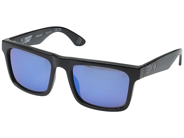 Spy Optic Atlas (Black/Happy Bronze Polar w/ Dark Blue Spectra) Athletic Performance Sport Sunglasses