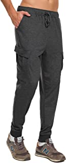 Men's Casual Gym Workout Pants Skinny Joggers Sweatpants with Big Pockets