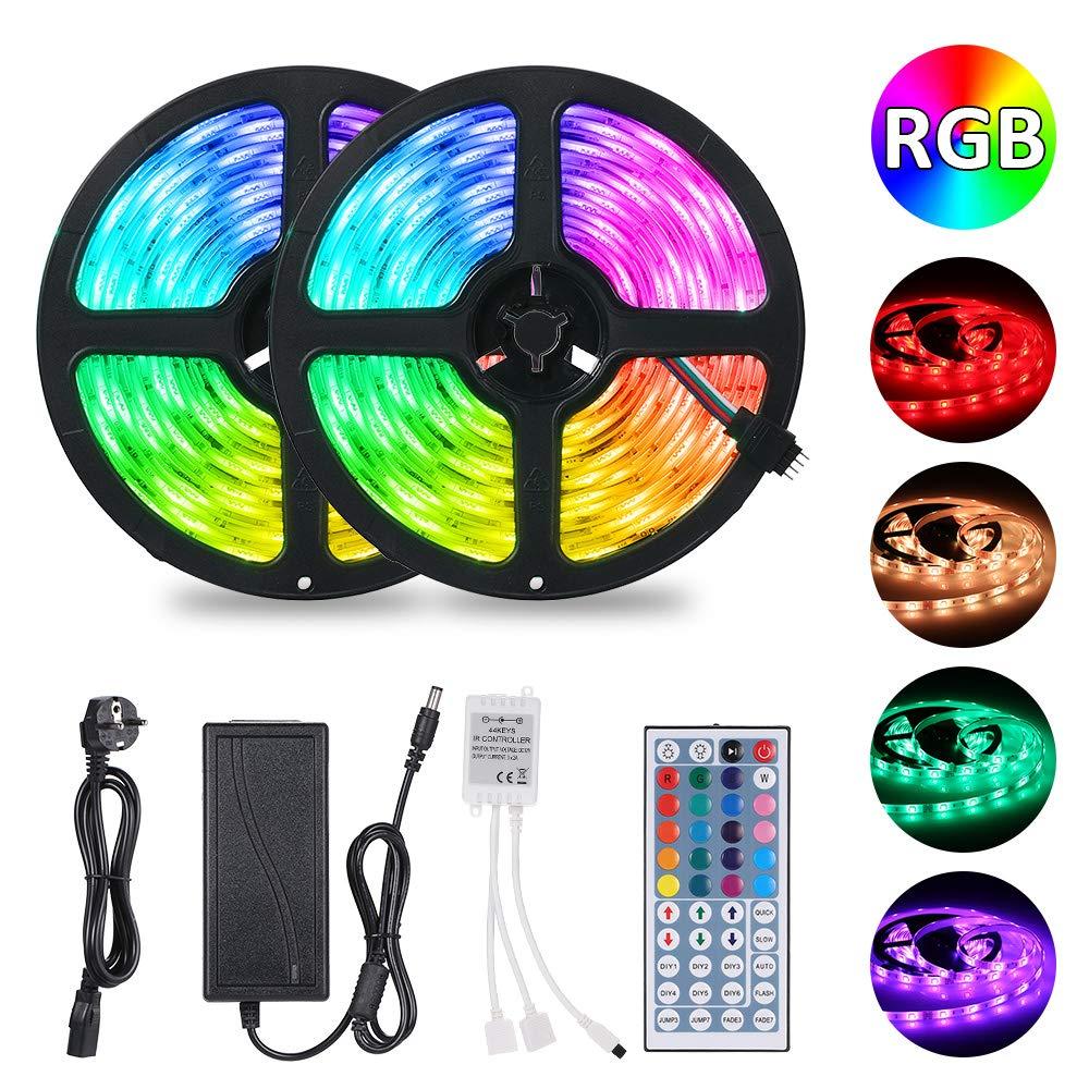 10M Tiras LED RGB 5050,Tomshine 300 LEDs Tiras LED de Luces Kit ...