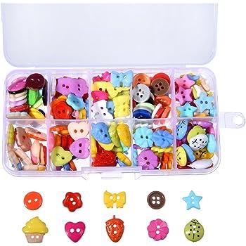 240 Piezas Botón de Coser Botones de Manualidades Botón de Resina con Caja de Plástico de Almacenamiento para DIY Coser Artesanía: Amazon.es: Hogar
