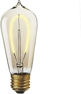 ST18 LED Edison Bulb - 3 Watt Vintage Light Bulb, E26 (Medium) Base, Fully Dimmable, Hairpin Filament, Warm White 2200k, Old Fashioned Straight Shape, Flatbush Design