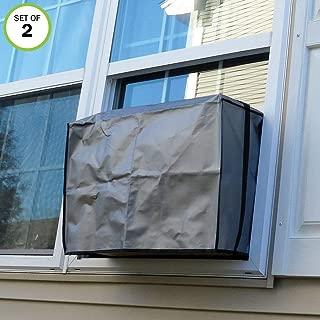 Evelots Air Conditioner/A/C Window Cover-Outdoor-Elastic Straps-15,000 BTU-Set/2