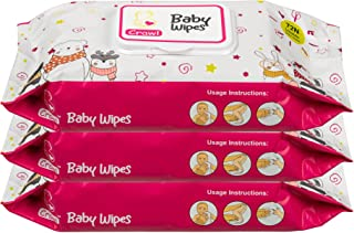 Crawl Baby Wipes - Gentle And Ultra Soft - Hypoallergenic - Paraben and Alcohol Free - Enriched With Aloe Vera And Chamomi...