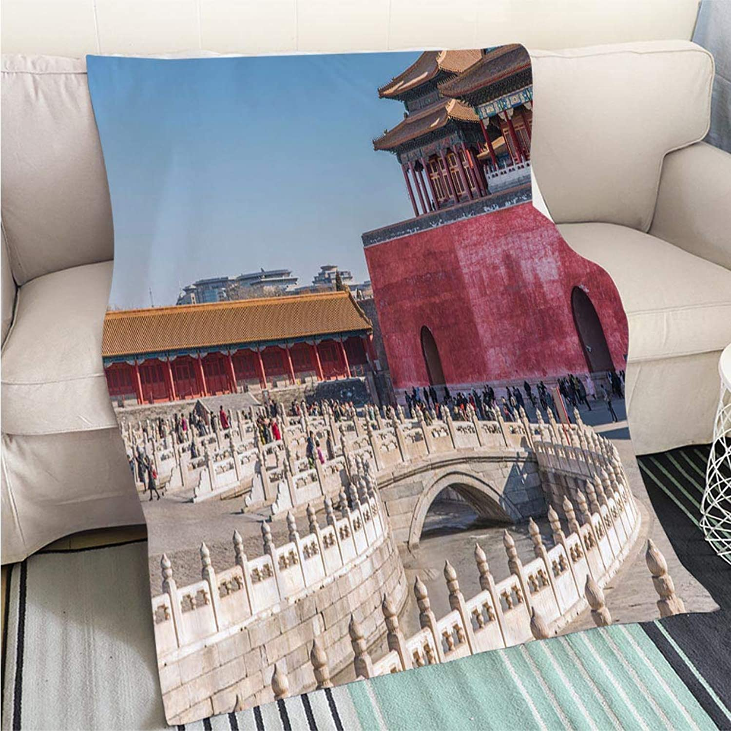 Comforter Multicolor Bed or Couch Supreme Harmony Square in Forbidden City Perfect for Couch Sofa or Bed Cool Quilt