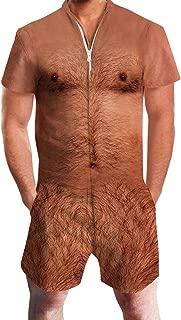 Ahegao Men Romper Jumpsuit One Piece 3D Print Casual Zipper Short Sleeve Pants Overalls