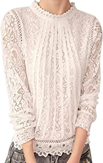 Homebaby Taglie Forti Chiffon Magliette Estive Eleganti Donna - Vintage Felpe Donna - Elegante Maglietta Maniche Lunghe Do...