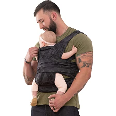 Boppy ComfyFit Hybrid Baby Carrier, Black/Gray Camo