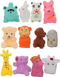 SaleOn Set of 12 Bath Toy chu chu 12 pc Water Swimming Toys for Infant Kids Mix Animals Baby Bath Toys Soft Toys with Soun...