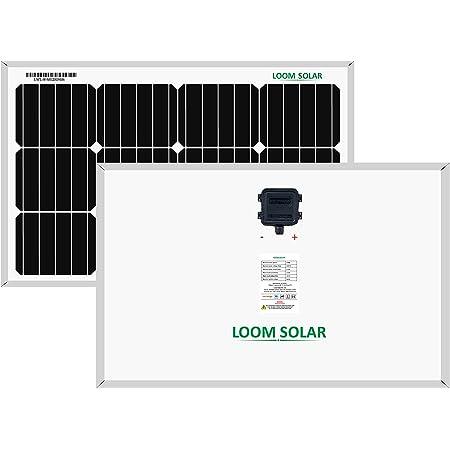 LOOM SOLAR Panel 50 watt - 12 Volt Mono PERC, BIS Certified