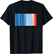 Global Warming Blue Red Stripe Pattern Tshirt Shirt