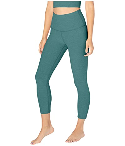 Beyond Yoga Spacedye High Waisted Capri Leggings (Meadow Sage/Frosty Glade) Women