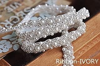 QueenDream ivory rhinestone belt crystal beaded sash bridal shower belt crystal beaded belt simple bridal belt …