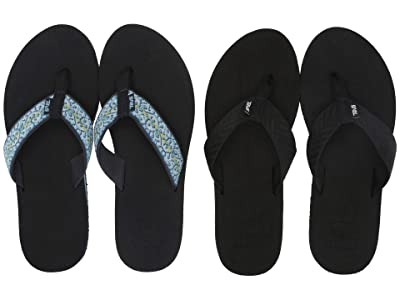 Teva Mush II 2-Pack (Fronds Black/Companera Blue) Women
