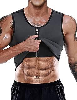 Men Neoprene Waist Trainer Vest Weight Loss Hot Sweat Slimming Body Shaper Sauna Tank Top Workout Shirt Shapewear No Zipper