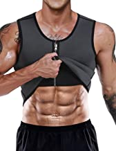 NonEcho Men Sauna Sweat Vest Weight Loss Waist Trainer Vest Neoprene Tank Top Shapewear Slimming Shirt Workout Suit