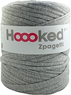 Hoooked Zpagetti Grey Recycled Chunky Cotton T-Shirt Yarn - 120m (393.7'), 700g