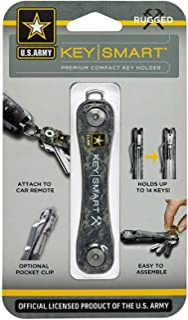 KeySmart Rugged - دارنده کلید چند منظوره با درب بطری و گیره جیبی (تا 14 کلید ، ارتش)