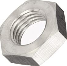 18-8 Stainless Steel Hex Nut, Plain Finish, DIN 934, Metric, M20-1.5 Thread Size, 30 mm Width Across Flats, 16 mm Thick