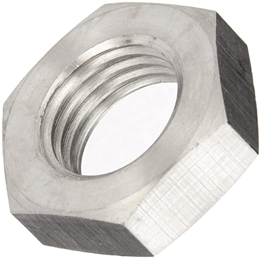 DIN-439 Metric Stainless Steel A2 Hexagon Lock Nuts M2 to M30 Half Nut
