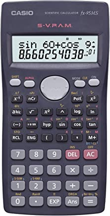 $21 » Casio Fx-95ms Scientific Calculator with 2-line Natural Textbook Display 244 Function Black Color